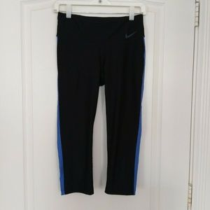 Nike Leggings S Womens Dri-fit Running Capri Black